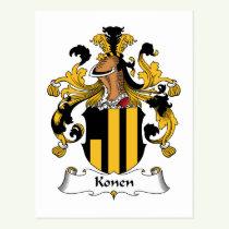 Konen Family Crest Postcard