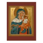 Konevitsa Mother of God Prayer Card Post Card