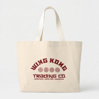kong del ala que negocia el co. problema grande en bolsas lienzo