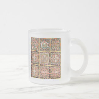 Kongokai Mandala Frosted Glass Coffee Mug