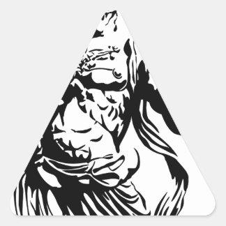 Kongourikishi agyou triangle sticker