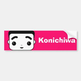 Konichiwa Pegatina De Parachoque