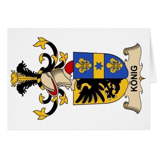 König Family Crest Greeting Cards