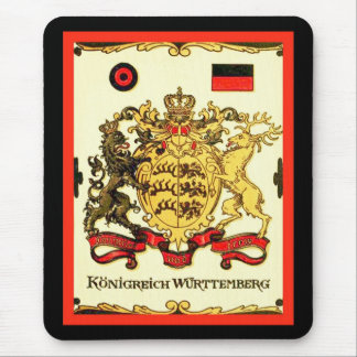 Königreich Württemberg ~ Vintage Coat of Arms Mouse Pad