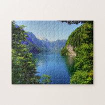 Königssee Bavaria Germany. Jigsaw Puzzle