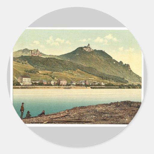 Konigswinter, the Rhine, Germany magnificent Photo Sticker
