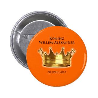 Koning Willem-Alexander Pinback Button