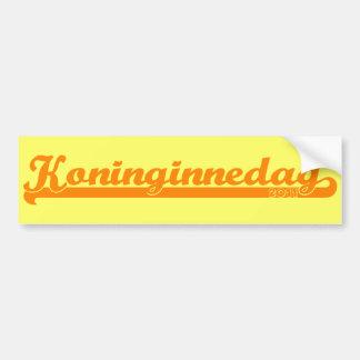 Koninginnedag Bumper Sticker