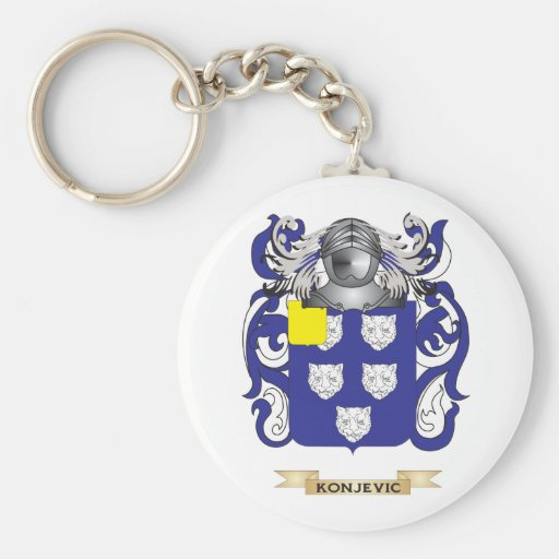 Konjevic Coat of Arms (Family Crest) Keychain