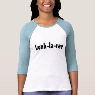 konk-la-ree camisetas