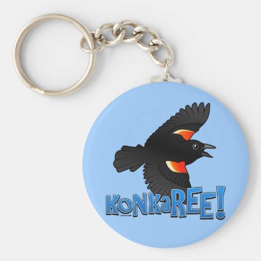 KonkaREE! Basic Round Button Keychain