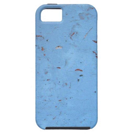Konkrete Beschaffenheit de Blaue iPhone 5 Case-Mate Fundas
