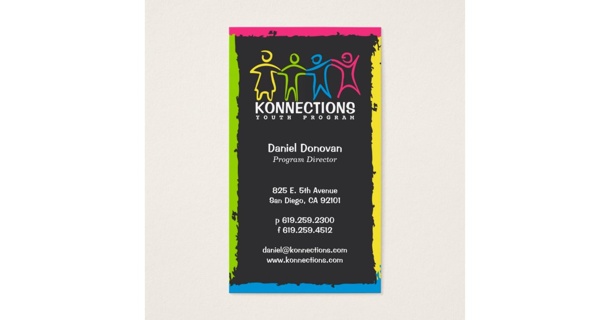 Konnections Youth Program Nonprofit Business Card | Zazzle.com