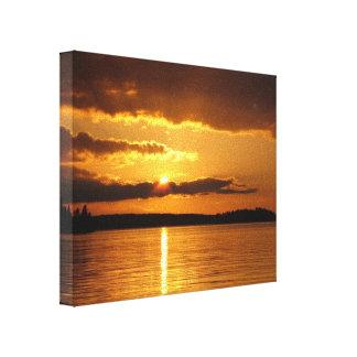 Konnevesi Sunset premium canvas print