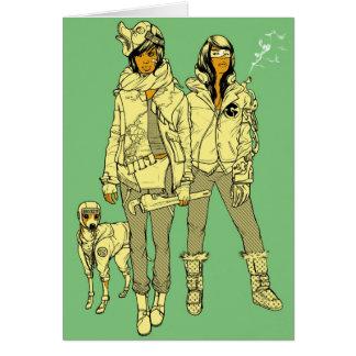 Konni, Lace, & Leroy Brown Print Card