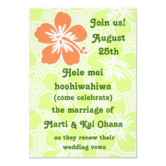 Kono Hibiscus Tropical Invitations