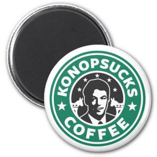 Konop Coffee 2 Inch Round Magnet