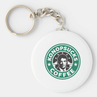 Konop Coffee Basic Round Button Keychain