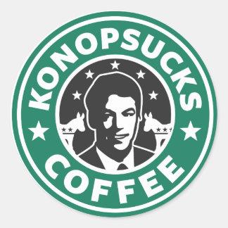 Konop Coffee Classic Round Sticker