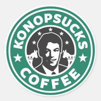 Konop Coffee Round Sticker