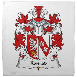 Konrad Family Crest Napkin