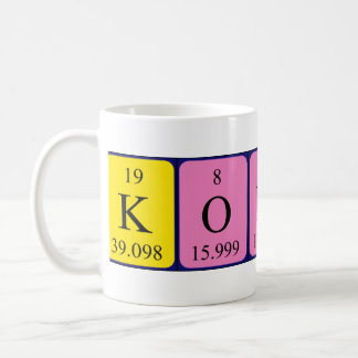 Konrad periodic table name mug