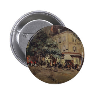 Konstantin Korovin- A Street in Vichy Pinback Buttons