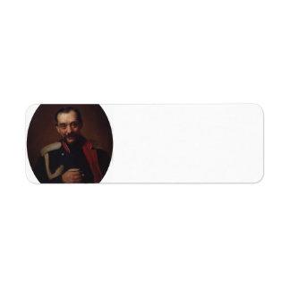 Konstantin Makovsky:Portrait of the composer Cesar Return Address Labels