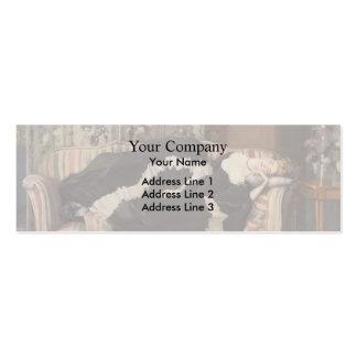 Konstantin Somov- A Sleeping Woman Business Card Templates