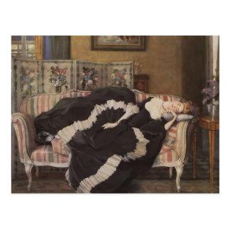 Konstantin Somov- A Sleeping Woman Postcard
