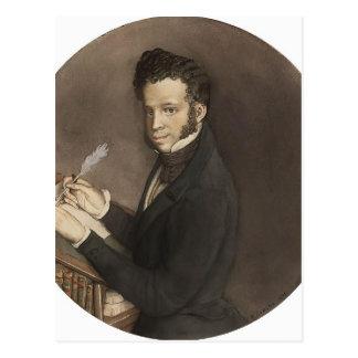 Konstantin Somov- Alexander Pushkin en el trabajo Postal