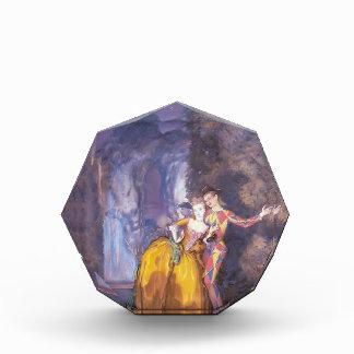 Konstantin Somov- Lady and Harlequin (Fireworks ) Acrylic Award