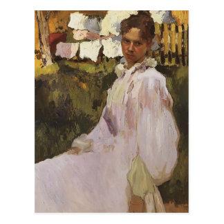 Konstantin Somov- Portrait of Mrs N.F. Ober Postcard
