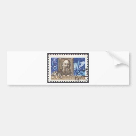 Konstantin Tsiolkovsky Russian Scientist Bumper Sticker