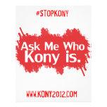 """Kony 2012 aviadores a todo color folleto 8.5"""" x 11"""""""
