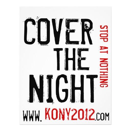 "Kony 2012 aviadores cubre la noche folleto 8.5"" x 11"""