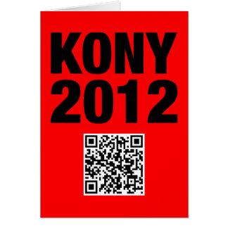 Kony 2012 Black on Red Card
