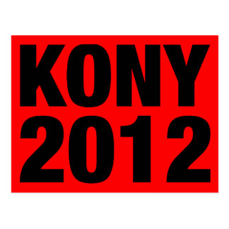Kony 2012 Black on Red Postcard