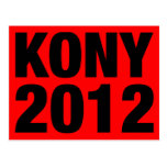 Kony 2012 Black on Red Postcards