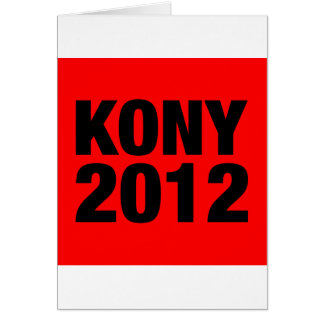 Kony 2012 Black on Red Square Card