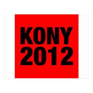 Kony 2012 Black on Red Square Postcard