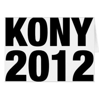 Kony 2012 Black Text Card