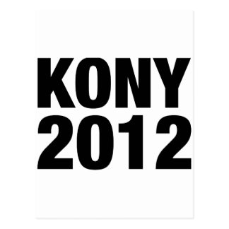 Kony 2012 Black Text Postcard