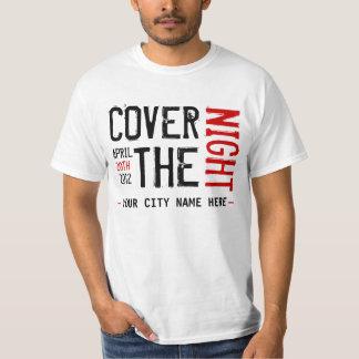 Kony 2012 - Cover the night - CUSTOMIZABLE Tee Shirt