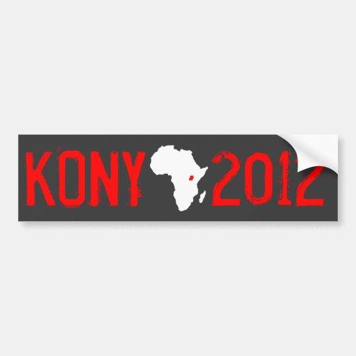 Kony 2012 etiqueta de parachoque