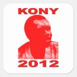 Kony 2012. Haga a los niños invisibles visibles. Calcomanía Cuadradas