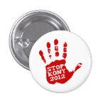 Kony 2012 Handprint Stop Joseph Kony 1 Inch Round Button