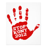 """Kony 2012 Handprint Stop Joseph Kony 4.5"""" X 5.6"""" Flyer"""
