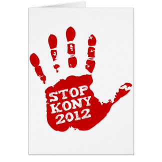 Kony 2012 Handprint Stop Joseph Kony Card