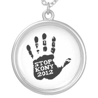 Kony 2012 Handprint Stop Joseph Kony Necklace